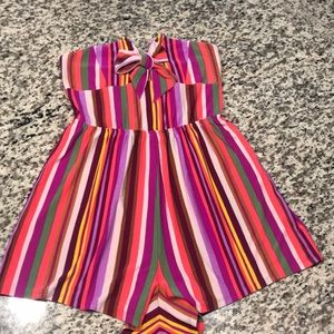 Express Multi-colored Striped Romper